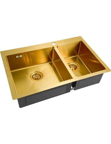 Zorg virtuves izlietne Inox PVD SZR-78-2-51 L - 1