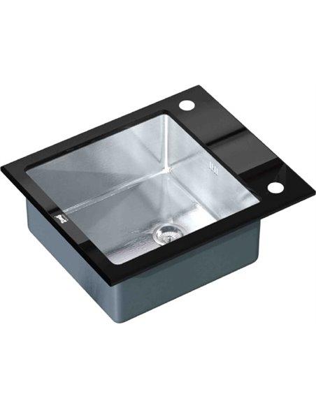 Zorg virtuves izlietne Inox Glass GL-6051-BLACK - 1