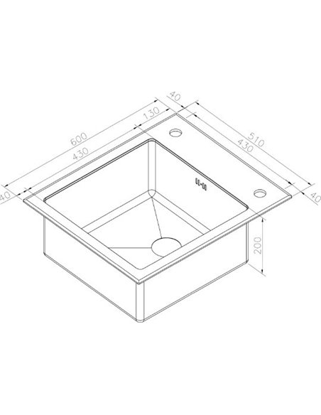 Zorg virtuves izlietne Inox Glass GL-6051-BLACK - 3