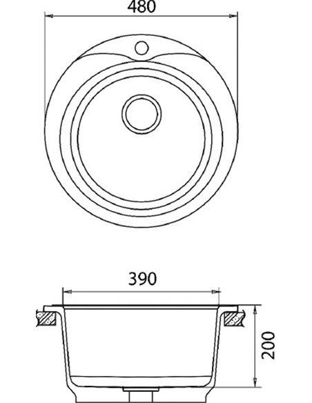 GranFest virtuves izlietne Rondo GF-R480 - 3