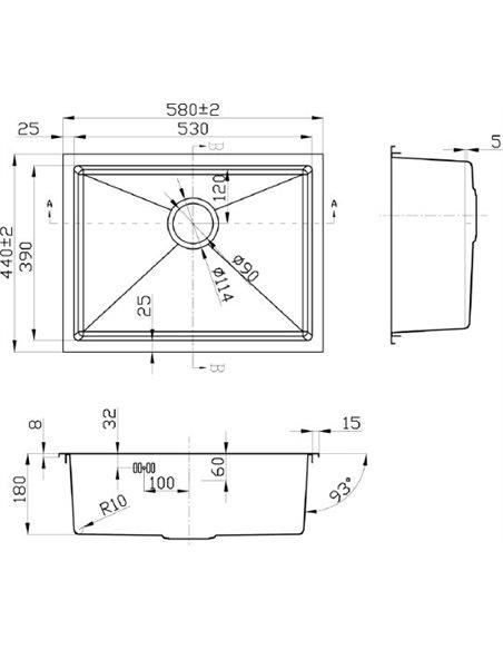 Steel Hammer virtuves izlietne R Fontas SH R 5844 - 2