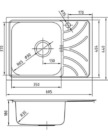 Iddis virtuves izlietne Arro ARR60PLi77 - 4