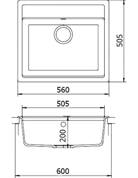Whinstone virtuves izlietne Немос 1B - 3