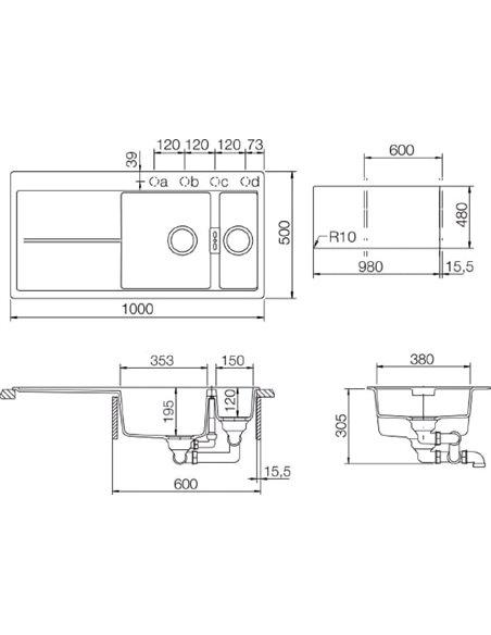 Schock virtuves izlietne Horizont 60D (D-150) - 3