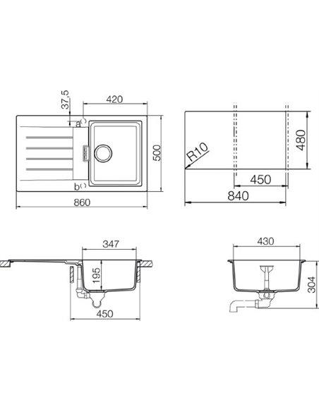 Schock virtuves izlietne Primus 45D (D-100) - 2
