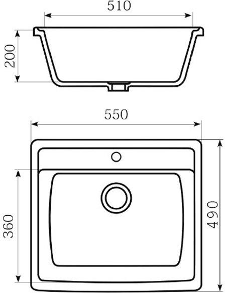 Mixline virtuves izlietne ML-GM15 - 4