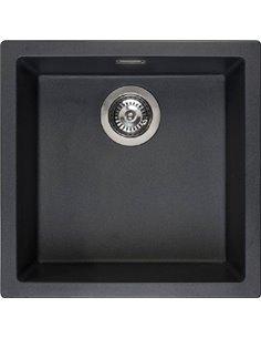 "Reginox virtuves izlietne Amsterdam 40 Black Silvery 3,5"" (R32312) - 1"