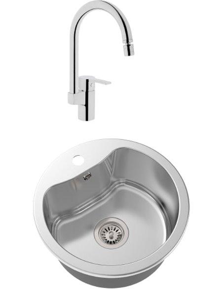 Komplekts: Virtuves izlietne Oulin OL-357 + Jaucējkrāns VitrA Fold S Sink Mixer A42155EXP - 1