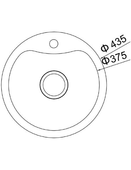 Komplekts: Virtuves izlietne Oulin OL-357 + Jaucējkrāns VitrA Fold S Sink Mixer A42155EXP - 5