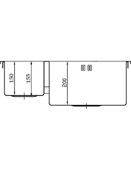 Seaman virtuves izlietne Eco Marino SMB-6151DLS - 3