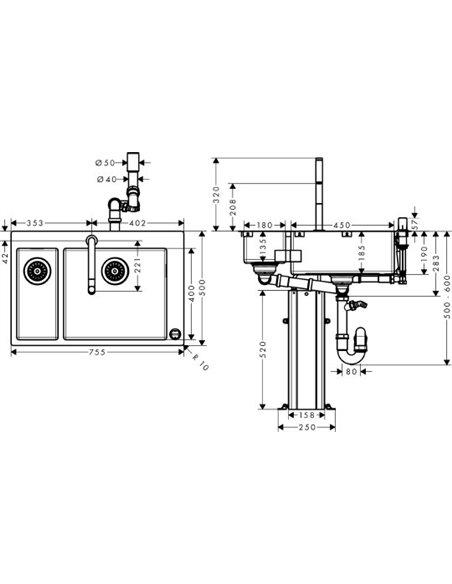 Komplekts: Hansgrohe C71-F655-09 43206000 - 7