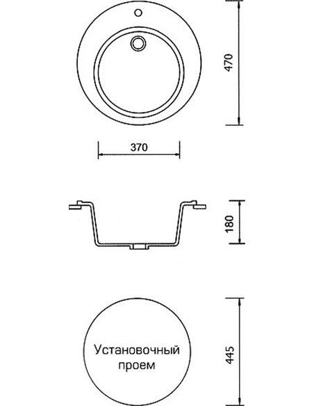 AquaGranitEx virtuves izlietne M-05 - 4