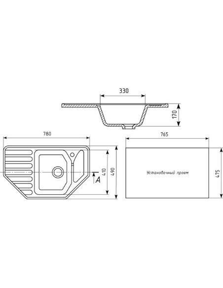 Mixline virtuves izlietne ML-GM24 - 2