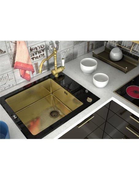 Zorg virtuves izlietne Inox Glass GL-6051-BLACK-BRONZE - 2