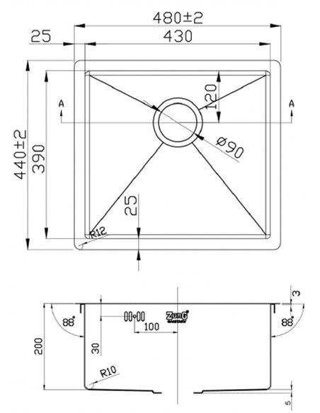 Zorg virtuves izlietne Inox Pvd SZR-4844 - 2
