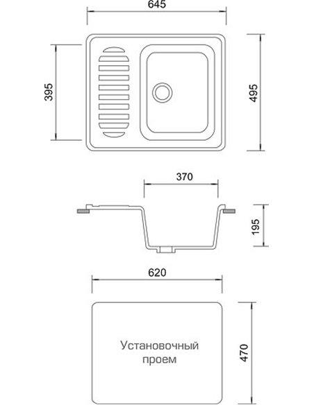 AquaGranitEx virtuves izlietne M-13 - 4