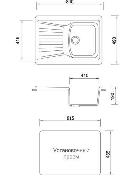 AquaGranitEx virtuves izlietne M-12 - 4