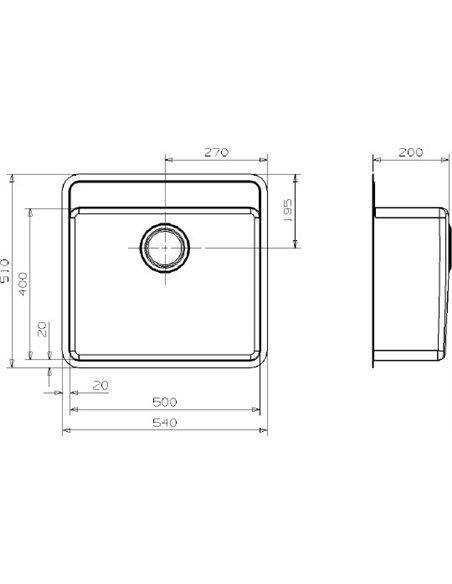 """Reginox virtuves izlietne Ohio 50x40 Tapwing LUX 3,5"""" L - 3"""