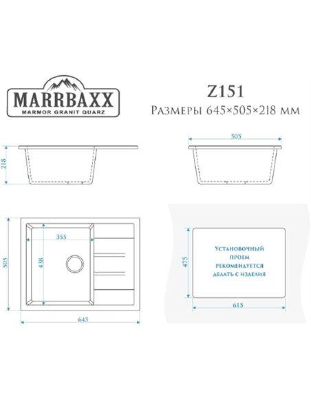Marrbaxx virtuves izlietne Катрин Z151Q001 - 3