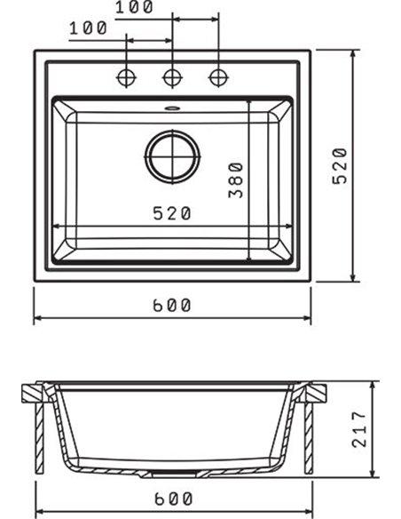 Florentina virtuves izlietne Липси - 2