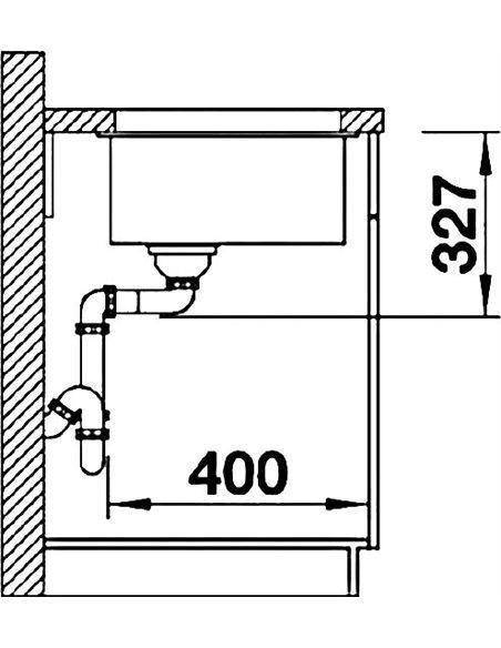 Blanco virtuves izlietne Subline 400-U - 3