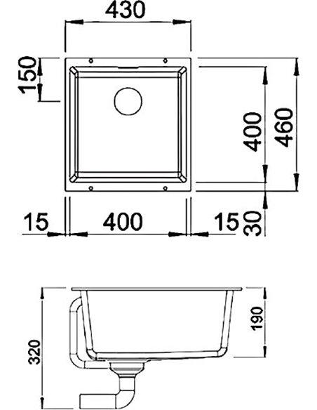 Blanco virtuves izlietne Subline 400-U - 4