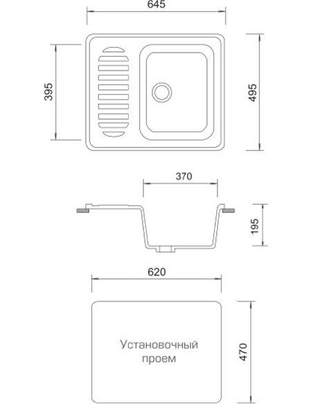 AquaGranitEx virtuves izlietne M-13 - 6