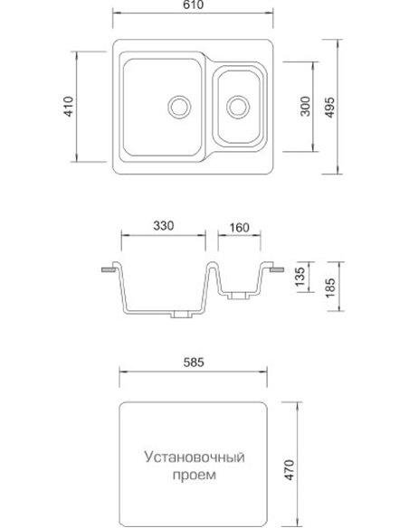 AquaGranitEx virtuves izlietne M-09 - 3