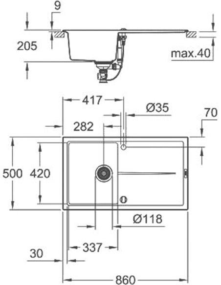 Grohe virtuves izlietne K400 31640AP0 - 3