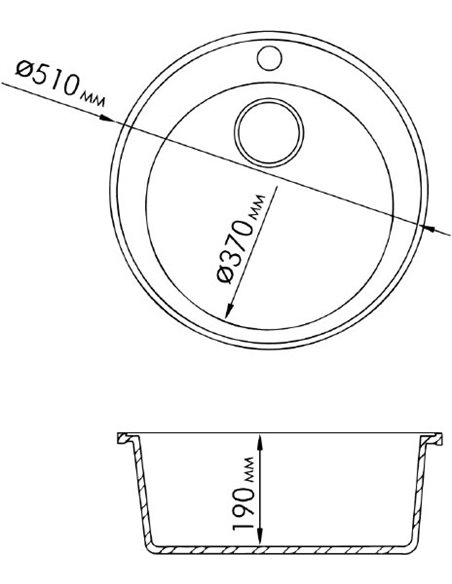 Rossinka virtuves izlietne RS51R sand - 2
