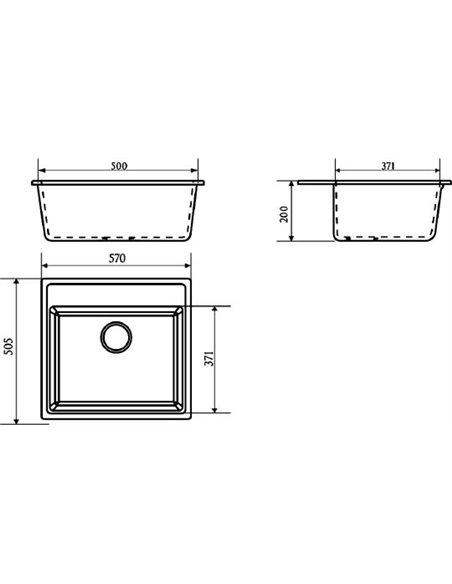 Marrbaxx virtuves izlietne Джекки Z009Q009 - 3