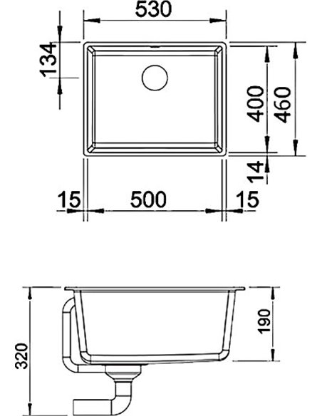 Blanco virtuves izlietne Subline 500-U - 2