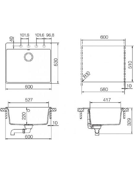 Schock virtuves izlietne Galaxy 60 (N-100) - 2