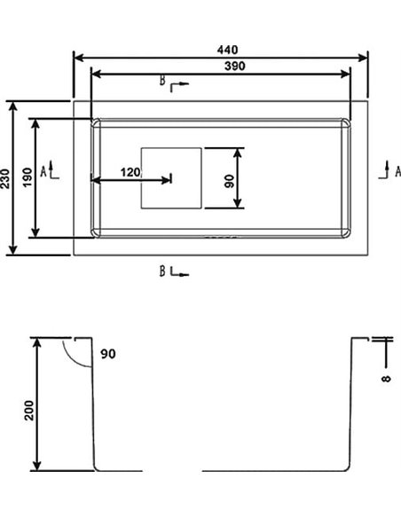 Zorg papildu virtuves izlietne Inox PVD SZR-2344 - 2