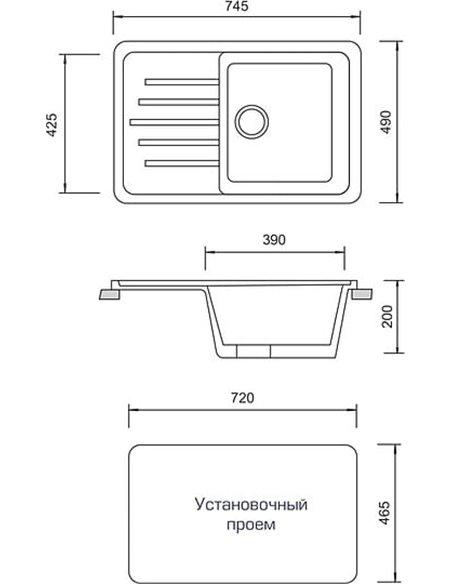 AquaGranitEx virtuves izlietne M-27 - 4