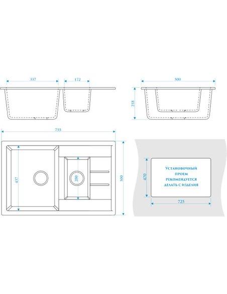 ZETT lab. virtuves izlietne T210Q010 - 3