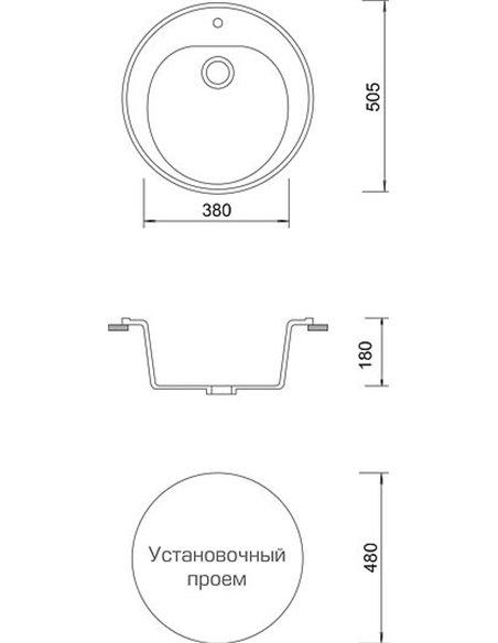 AquaGranitEx virtuves izlietne M-08 - 4