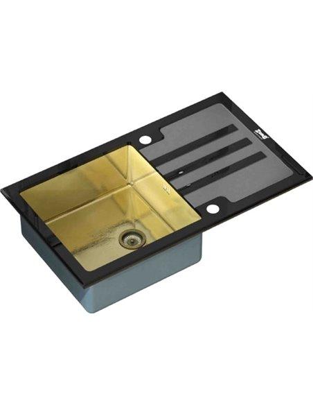Zorg virtuves izlietne Inox Glass GL-7851-BLACK-BRONZE - 1