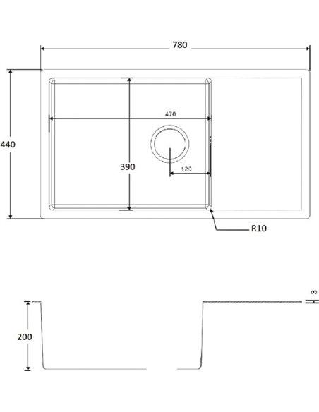 Zorg virtuves izlietne Inox R 7844 - 2