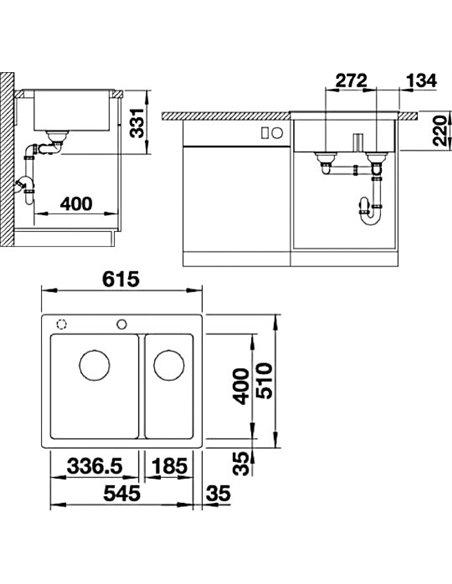 Blanco virtuves izlietne Pleon 6 Split - 2