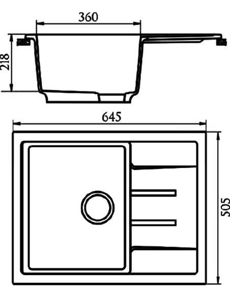 Marrbaxx virtuves izlietne Катрин Z151Q004 - 3