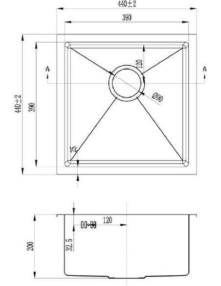 Zorg virtuves izlietne Inox RX RX-4444 - 2