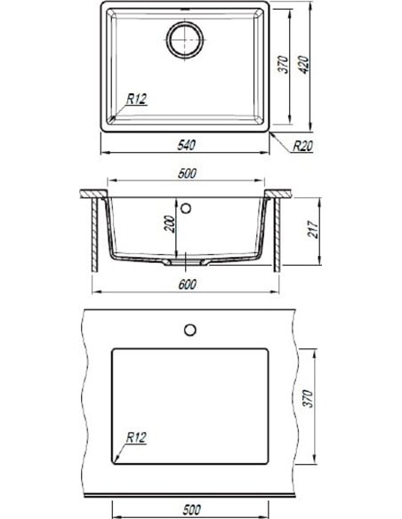 Florentina virtuves izlietne Вега 500 - 2