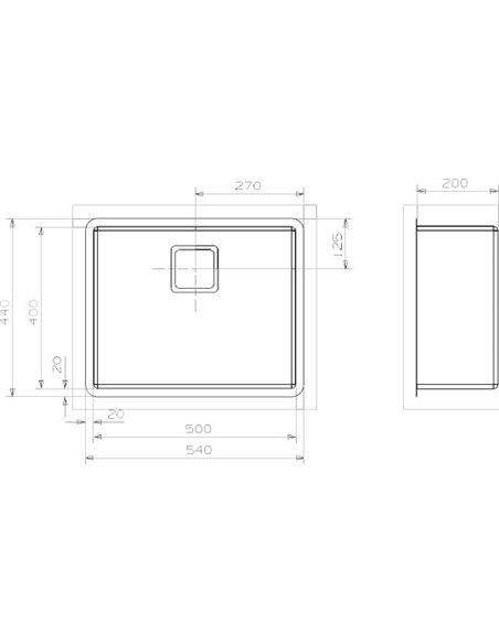 "Reginox virtuves izlietne Texas 50x40 Medium LUX 3,5"" (c/box) L - 2"