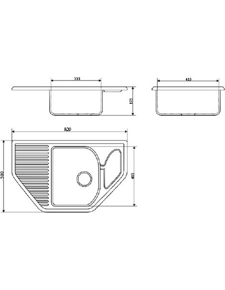 Marrbaxx virtuves izlietne Рики Z022Q009 - 3