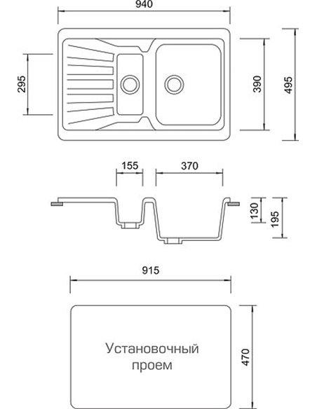 AquaGranitEx virtuves izlietne M-09к - 4