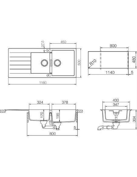 Schock virtuves izlietne Signus 80D (D-200) - 2