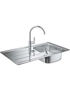 Komplekts: Grohe Bau 31562SD0 Virtuves izlietne K200 31552SD0 + Jaucējkrāns BauEdge 31367000  - 1
