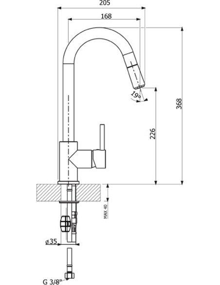 Komplekts: Virtuves izlietne Florentina Липси 650 + Jaucējkrāns Florentina Вита AV - 4