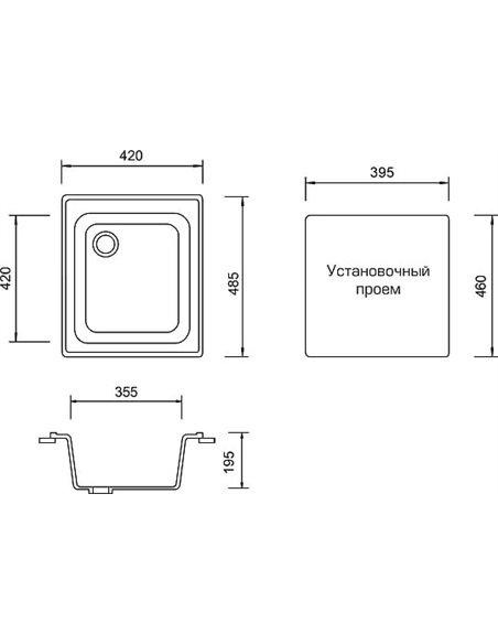AquaGranitEx virtuves izlietne M-17 - 4
